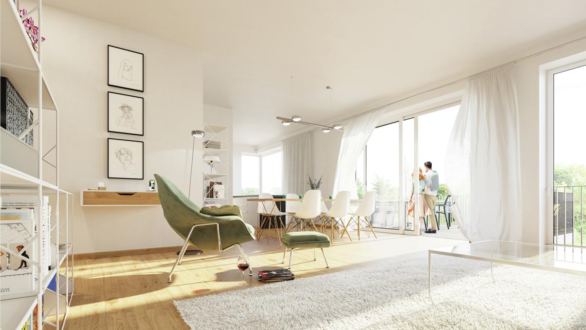 Erstbezug! Exklusive 4-Zimmer-Wohnung mit Loftcharakter