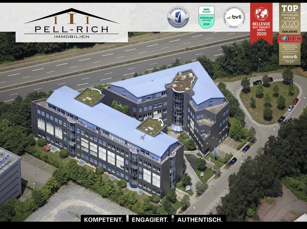 Representative und ca. 668m² große Penthousebürofläche im BC Ettlingen