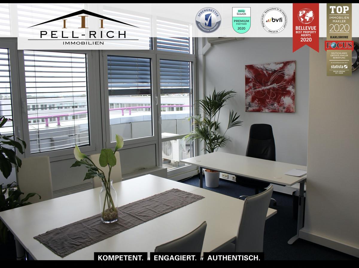 Büro mit Weitblick: Penthousefläche an A5 in Ettlingen zu vermieten