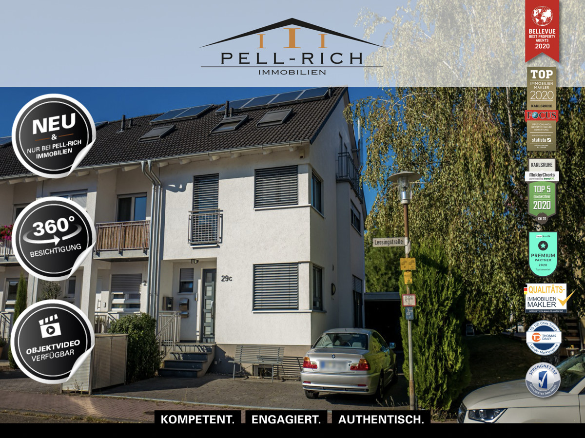 GLÜCKSFALL: 2008 erbautes Reihenendhaus mit Garage und Solaranlage