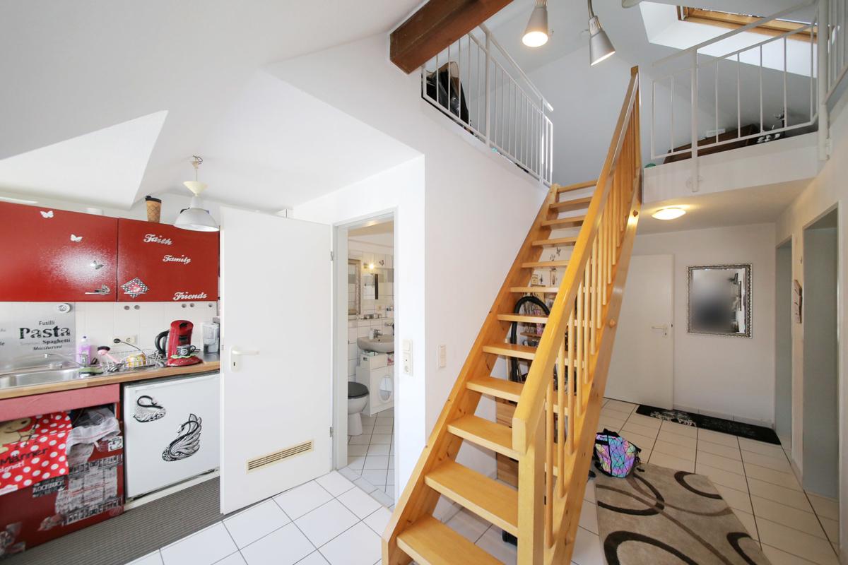 Top gepflegte Maisonettewohnung in ruhigem Wohngebiet – solide vermiet