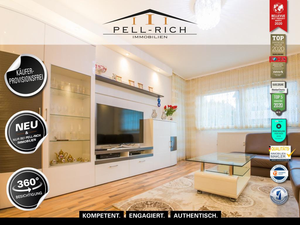 INNERE WERTE – Moderne und helle 3-Zimmer Wohnung mit Balkon KÄUFERPRO