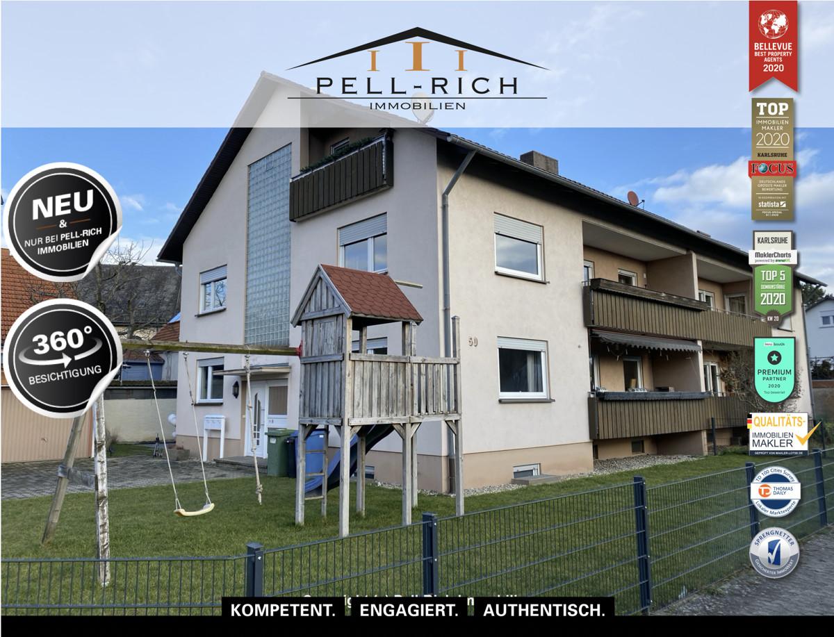 EINZIEHEN & WOHLFÜHLEN: Bezugsfreie 4-Zimmer Wohnung in Bruchsal-Büche