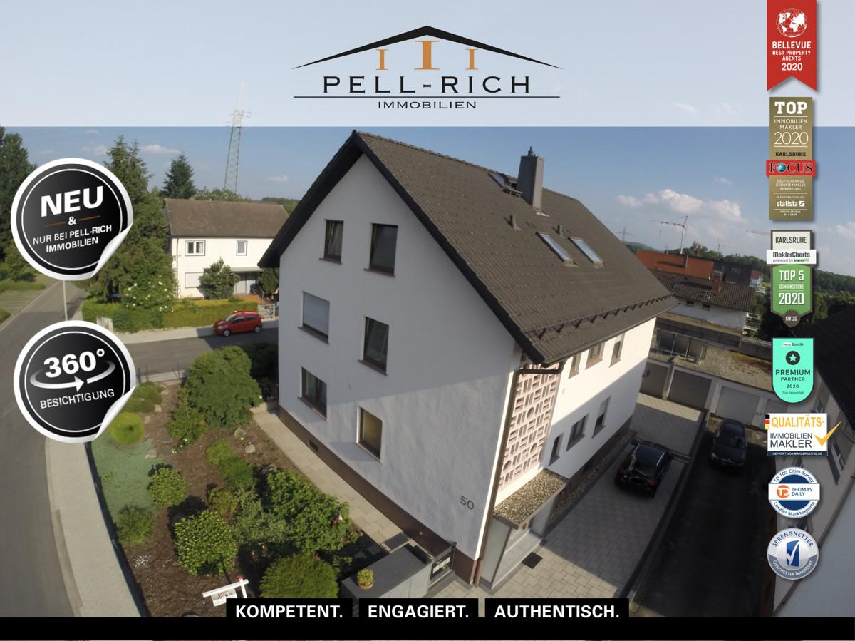 Hochwertig sanierte 3 Zi. Dachgeschosswohnung in Stutensee-Büchig!