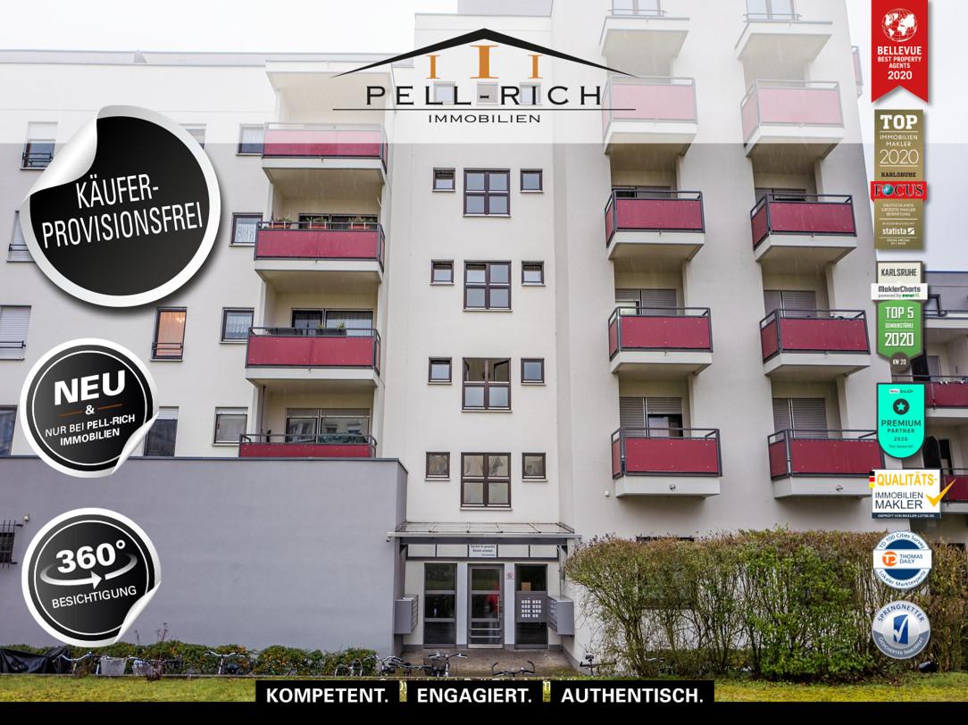 AUSBLICK – 3 Zimmer Wohnung mit Balkon und TG-Stellplatz in Neureut