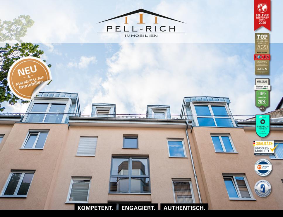 WOHNGENUSS MIT AUSSICHTSPLUS: Maisonette-Wohnung mit Balkonblick ins G