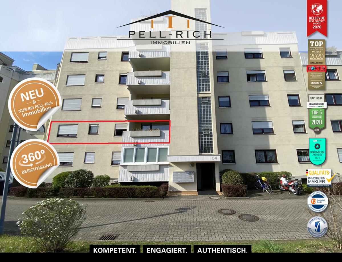 IHR WOHN(T)RAUM: Charmante 2 Zi. Wohnung mit Balkon in Karlsruhe-Neure