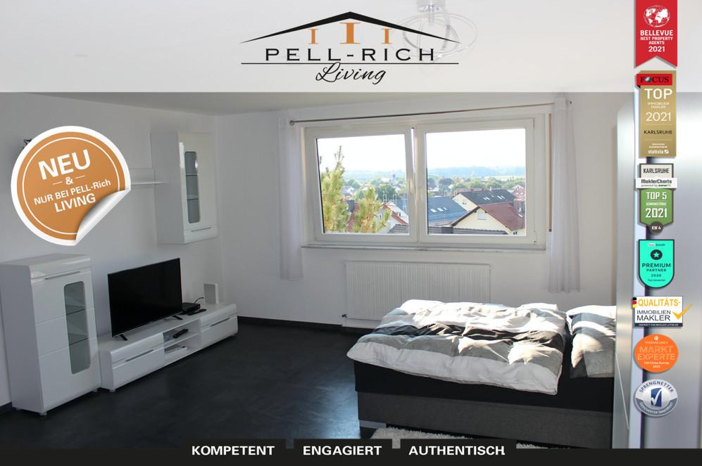 Hochwertig und voll möbliertes 1 Zi. Apartment in Linkenheim inkl. TV