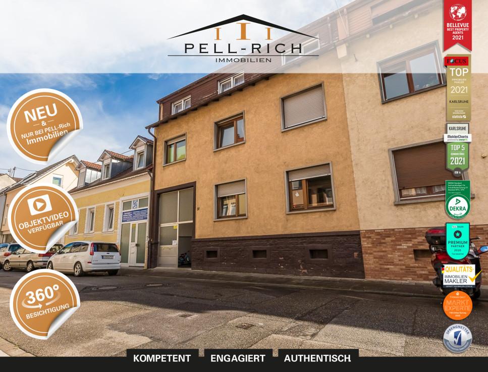 SCHLÜSSELERLEBNIS: Top vermietetes 3-Parteienhaus in Durlach-Aue