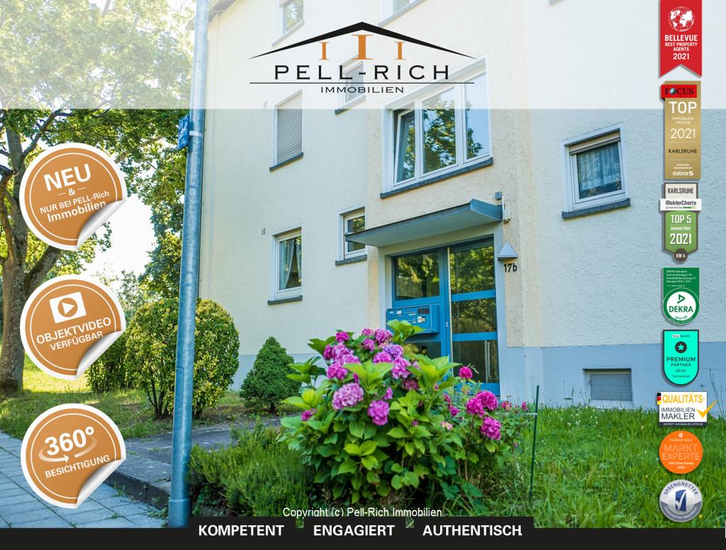 RUHEPOL: Freie 3-Zimmer Eigentumswohnung mit Balkon in der Karlsruher