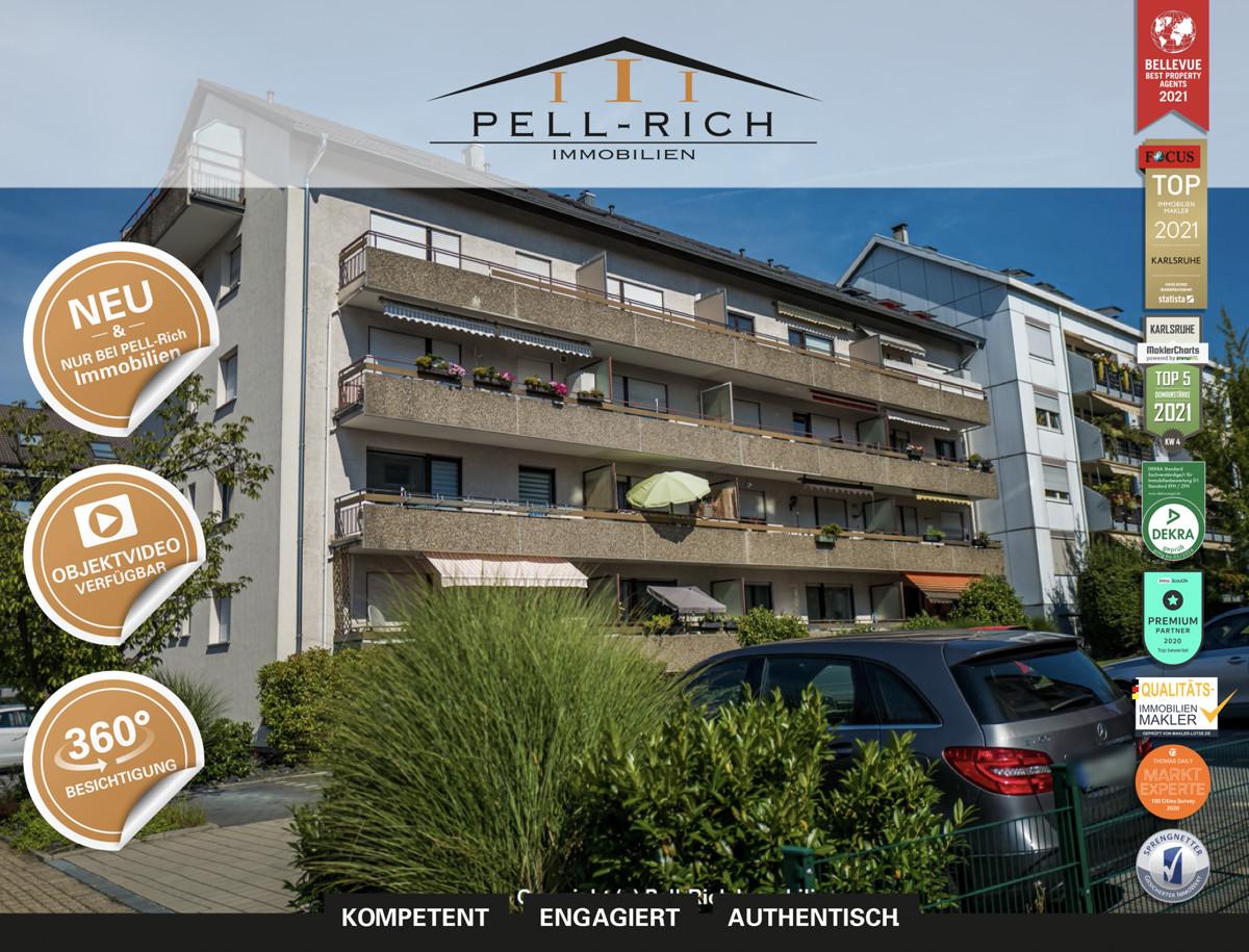 SCHICKES WOHNEN – 3 Zimmer Mietwohnung in Karlsruhe-Wolfartsweier